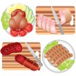 Meat Products — Stock Vector