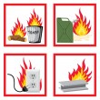 Royalty-Free Stock Vector Image: Fire safety