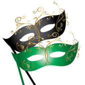 Theatrical masks — Stock Vector