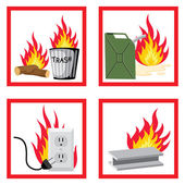 Fire safety — Stock Vector