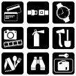 Stock Vector: Icons travel