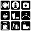 Icons travel — Stock Vector