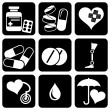 Icons_medical — Stock Vector