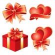 Royalty-Free Stock Imagen vectorial: Valentine\'s Day symbols