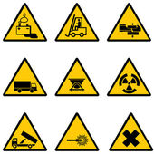 Warning signs — Vettoriale Stock
