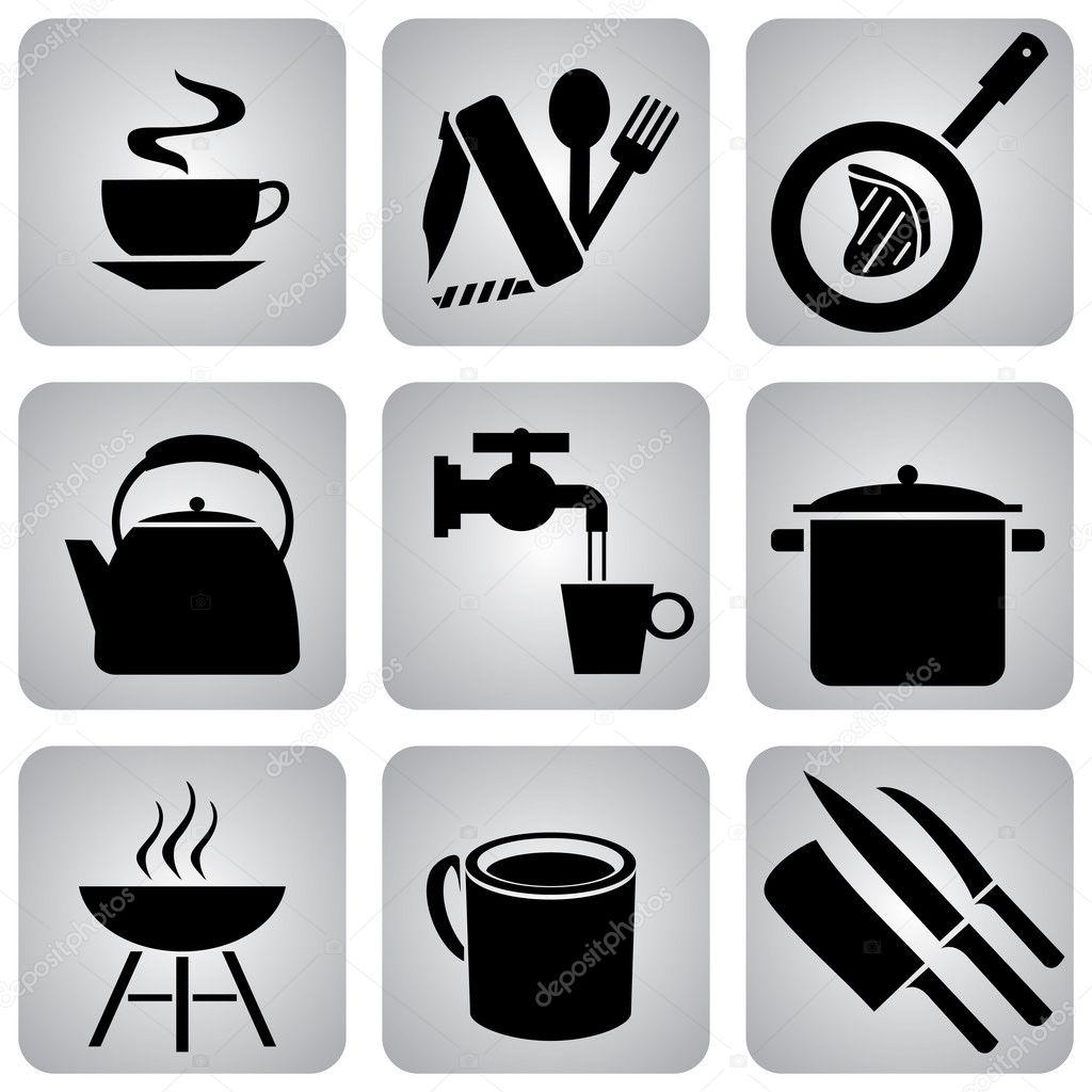 Utensilios de cocina vector de stock print2d 1643186 for Empresas de utensilios de cocina