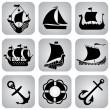 Stock Vector: Ships icons