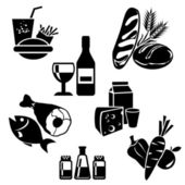 Food icons — Vector de stock