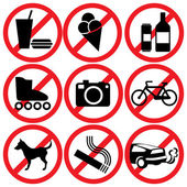 Proibido — Vetorial Stock