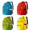 Stock Vector: Sports backpacks