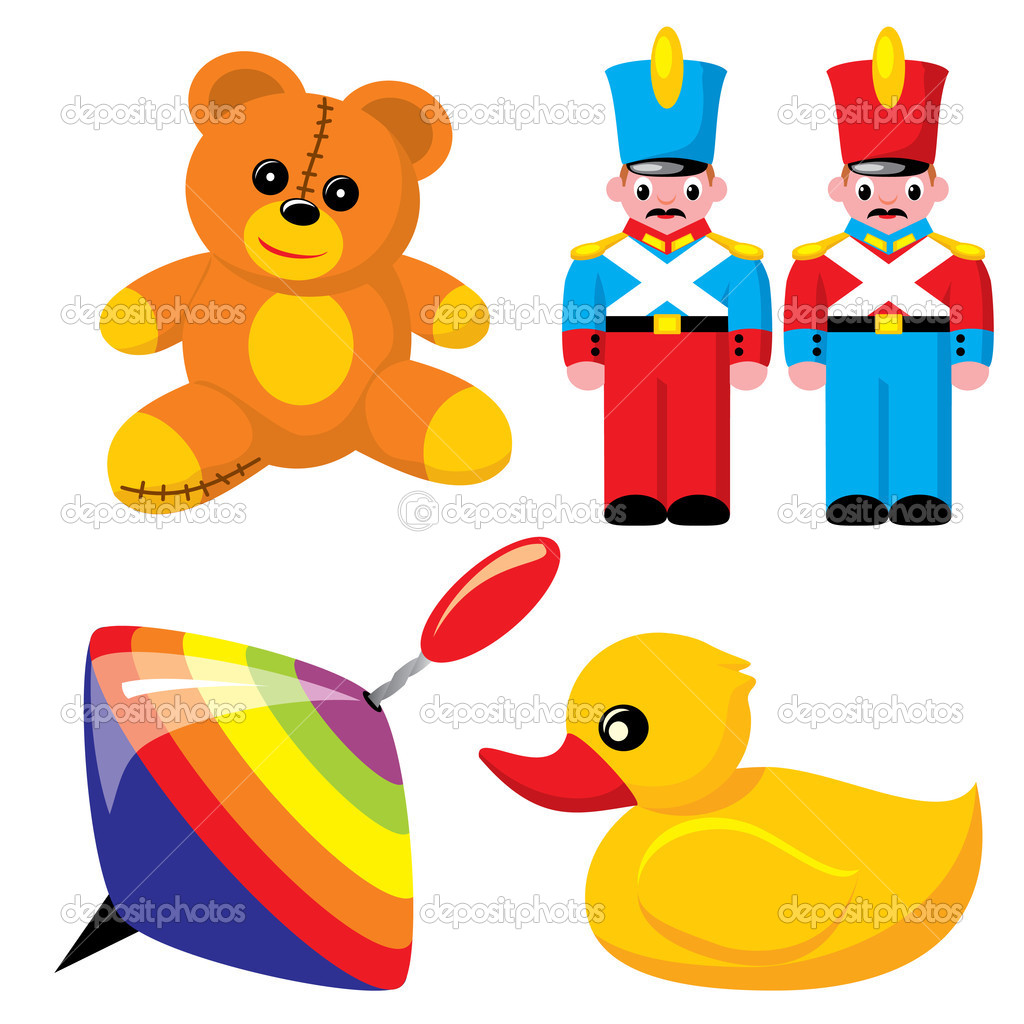 Children's toys — Stock Vector © print2d #2069768