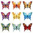 Royalty-Free Stock Vector Image: Butterflies
