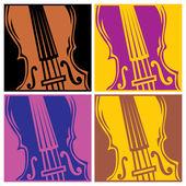 Background violin — Stock Vector