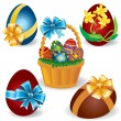 Royalty-Free Stock Векторное изображение: Easter eggs