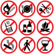Stock Vector: Prohibitory signs
