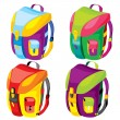Sports backpacks - Stock Vector
