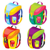 Sports backpacks — Stock Vector