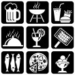 Icons food — Vector de stock #2377515