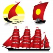 Sailing ships — Stock Vector #2472166