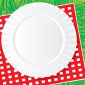 Plato de comida campestre — Vector de stock