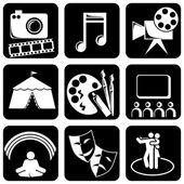 Icons art — Stock Vector
