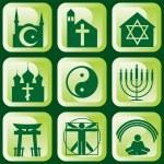 Icons of religious — Stock Vector