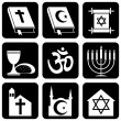 Icons of religious — Stock Vector
