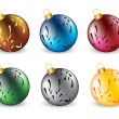 Stock Vector: Set of christmas ball