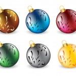 Set of christmas ball — Stock Vector