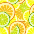 ストックベクタ: Citrus seamless pattern