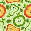 Seamless pattern of fruits — Vector de stock