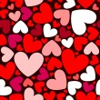 Stock vektor: Seamless pattern with hearts