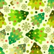 Stock vektor: Christmas tree seamless pattern