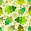 vánoční stromeček bezešvé vzor — Stock vektor