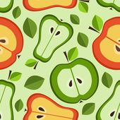 Seamless pattern of fruits — Stock Vector