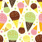 Seamless pattern of ice cream — Stock Vector