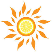 Lemon sun — Stock Vector