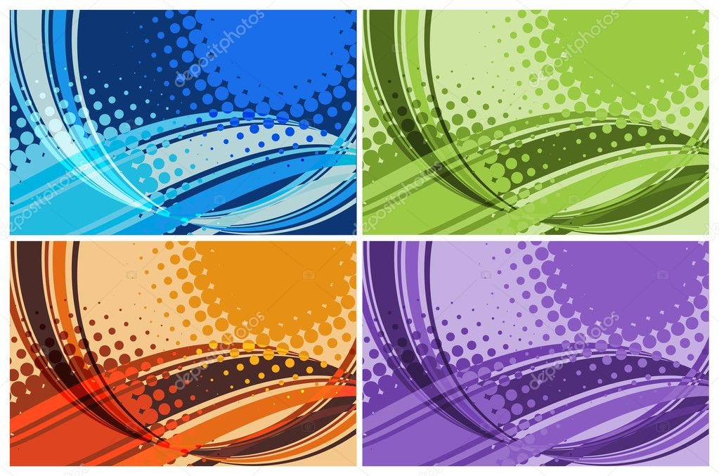 Vector set of line abstract background — ベクター素材ストック #1591678