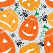 Halloween seamless pattern - Stock Vector