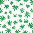 Stock Vector: Pattern of cannabis leaf
