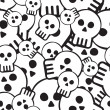Pattern of skulls — Vector de stock