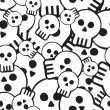 Pattern of skulls - Stock Vector