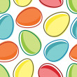 Stock Vector: Pattern of easter egg