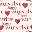 Valentine pattern — Stockvectorbeeld