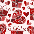 Valentine seamless pattern - Grafika wektorowa