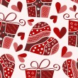 Valentine seamless pattern - Imagens vectoriais em stock