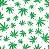Pattern of cannabis leaf — Stock Vector