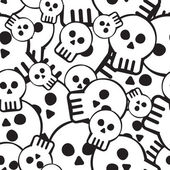 Pattern of skulls — Stock Vector