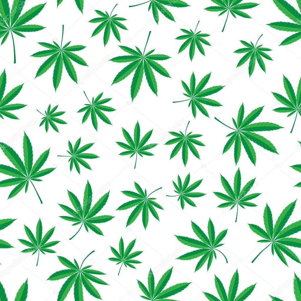 Vector seamless pattern of cannabis leaf — Stock Vector #1843499