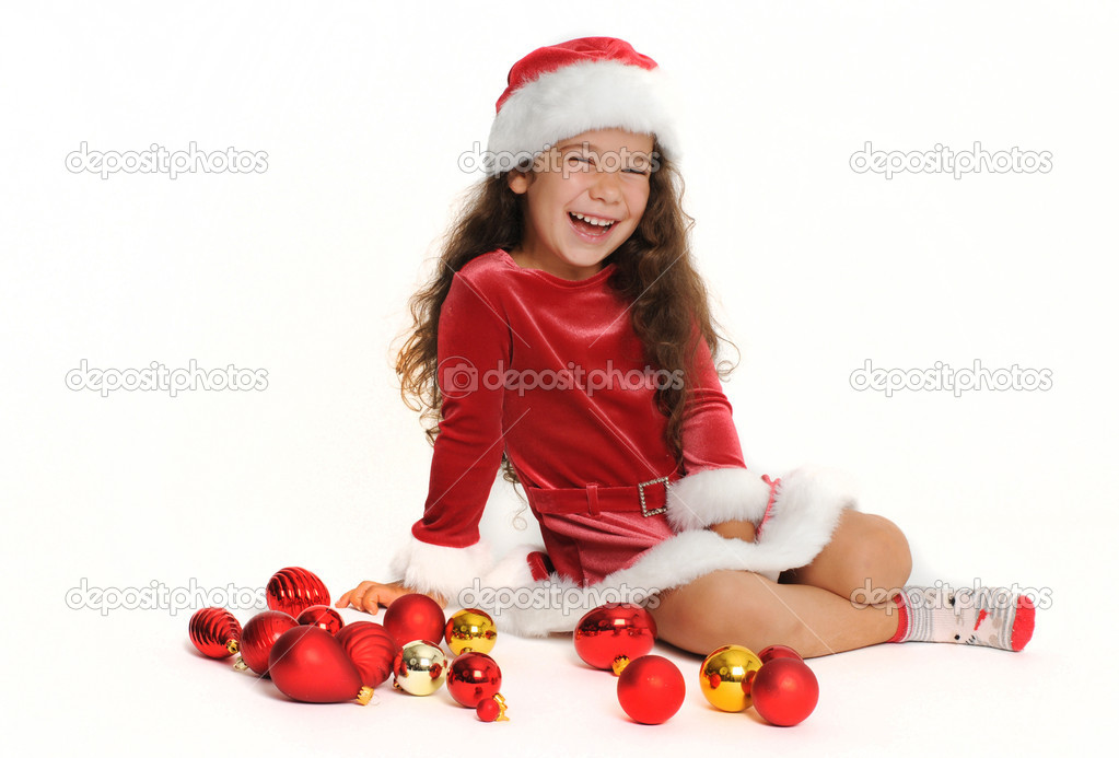 Little girl in red — Stock Photo #1141210